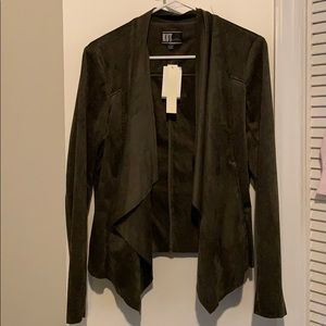 Dark Green faux suede jacket